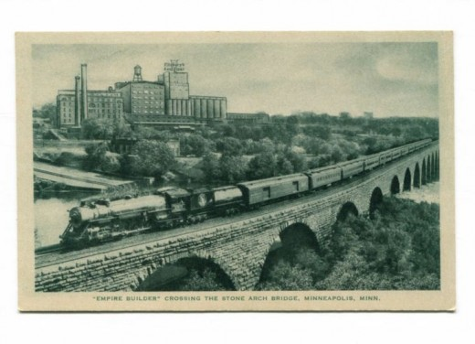 A postcard of the 1929 version of the Empire Builder