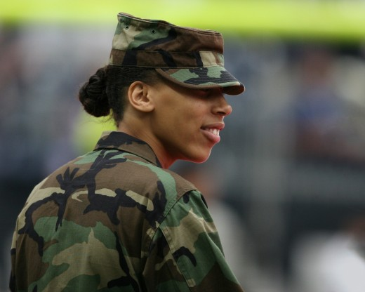Until 2016 arguments among US Military branches ensued over women being allowed in combat. In 2016 women were finally allowed to serve among men with equal rights and equal roles once forbidden to them.