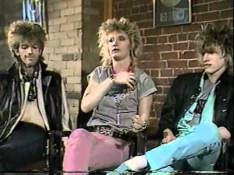 Platinum Blonde 1984 from l-r Chris Steffler, drums, Mark Holmes, bass and vocals, and Sergio Galli, lead guitar and backing vocals.