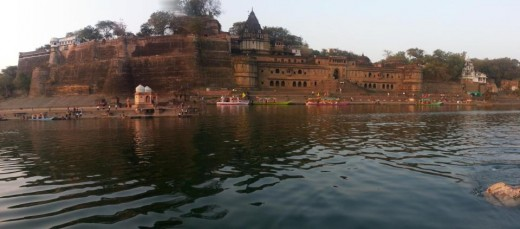 Fort at Maheshwar in MP