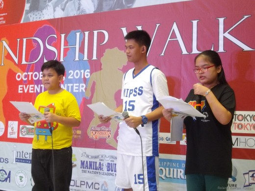 Special Olympics Philippines Athlete leaders Alissandra Pascua and Barwin Igot  hosting the program together with Unified Partner Johnsep Abode.