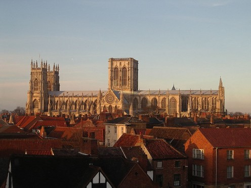 View of York Minster taken from 2nd floor of Marks & Spencer building.