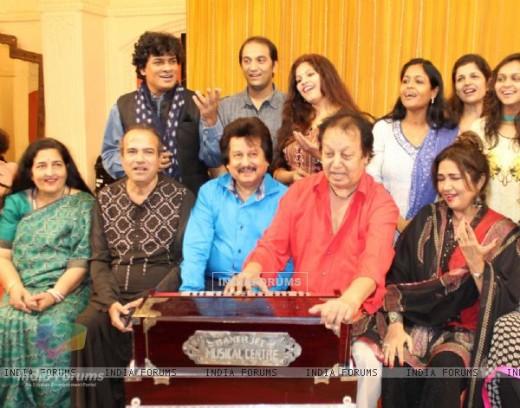 Ghazal singers at rehearsal