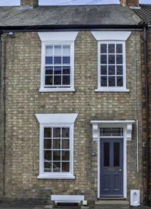A recent picture of the terraced house on Crown Street.