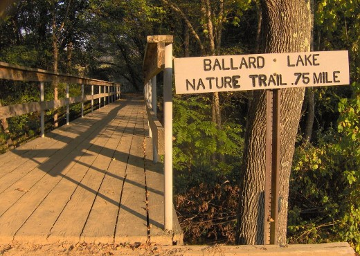 Ballard Lake Nature Trail is well marked and easily accessible