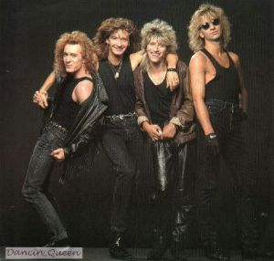 In 1986 Chris Steffler left the band due to differences in the band.  And thus the 6 ft 4 in austrian beauty Sascha Tukatsch, far left. took over on the drums