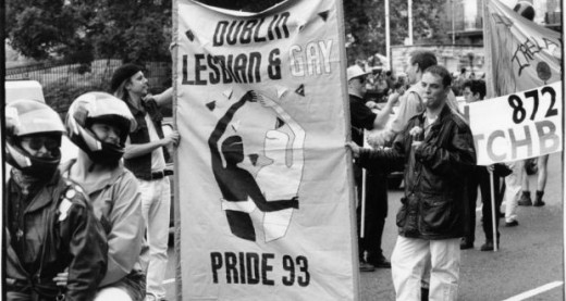 Though people have known about it for centuries, being gay as a open identity came to the forefront during the 1990's: this example from 1993 Pride Parade in Dublin, Ireland