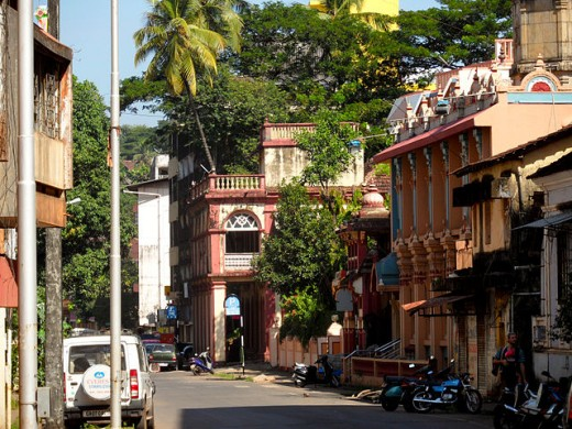 One of the streets in Panjim, Goa.