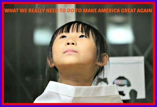 Simple things all of us can do to make America a better country in which to live.
