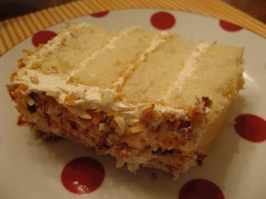 Slice Coconut Cake