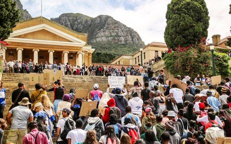 FeesMustFall protest at the University of Cape Town