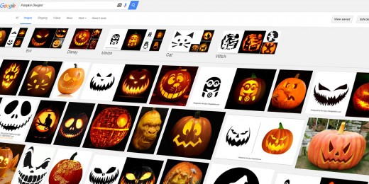 Google Image Search is a great resource for finding pumpkin designs and inspiration.