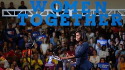 Michelle Obama in New Hampshire