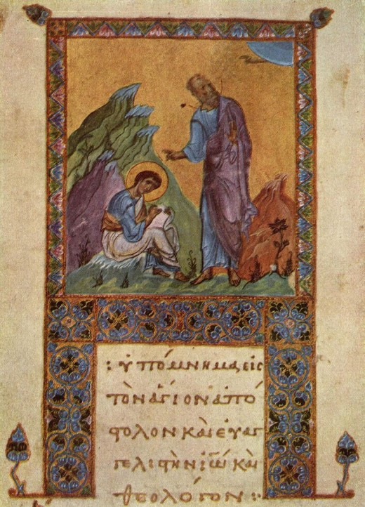 A tenth century inscription of John dictating to one of his disciples