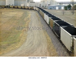 Coal train being loaded.