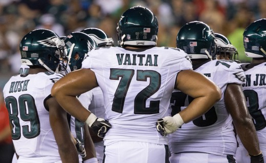 Philadelphia Eagles rookie RT Halapoulivaati Vaitai will make his first NFL start against the Redskins