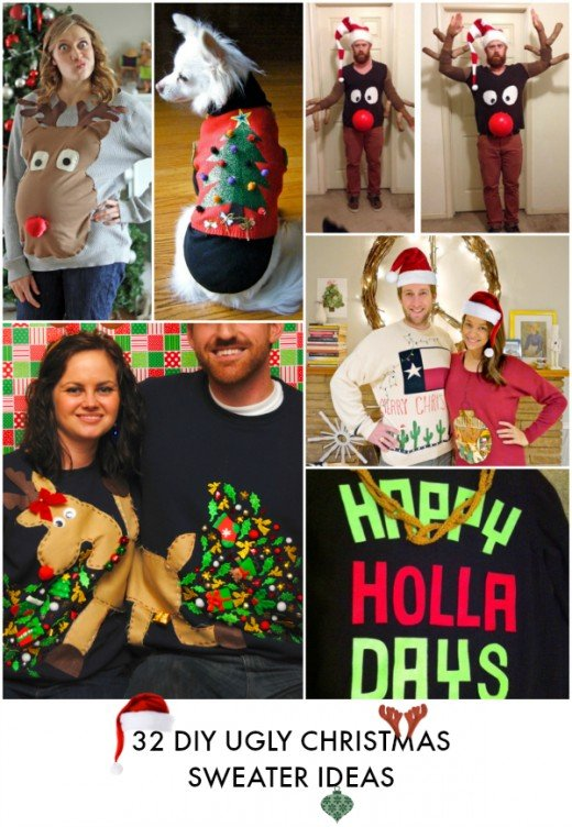 Do It Yourself ideas to help you make an Ugly Christmas sweater can be found at Creating Really Awesome Fun Things