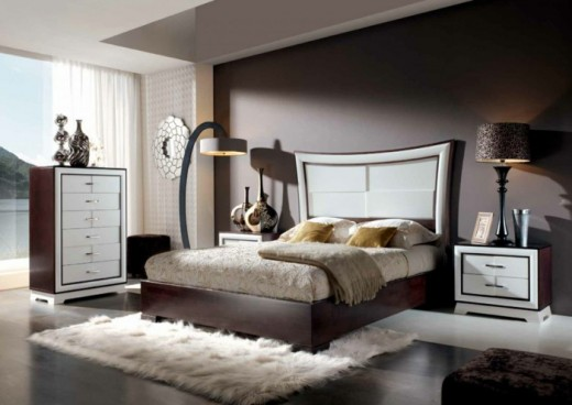 This is a picture of a room with the wall colors painted in cholocate.  It adds a warm and sofisicated look to the room.