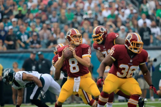 Washington Redskins QB Kirk Cousins enjoyed a clean pocket all game against the Eagles