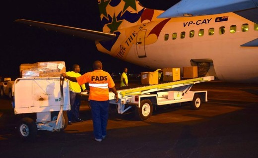 Sharing 'Cayman kind.' Plane packed with 10 tons of goods arrives in Haiti