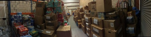More than $500,000 worth of supplies, collected in Cayman over three days getting ready to be taken to Haiti.
