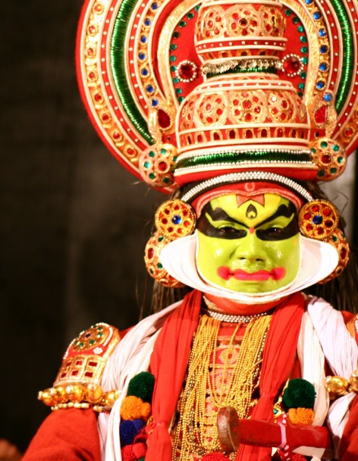 Kathakali - a traditional Kerala performance through which demons can inhabit humans and perform in front of an audience.