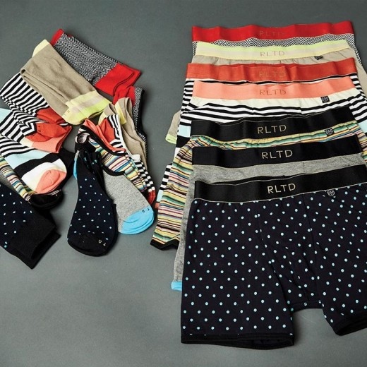 The matching socks and underwear by Related Garments will make a great Valentine's Day gift for him.