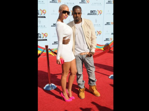 Kanye West And His Girlfriend Amber Rose