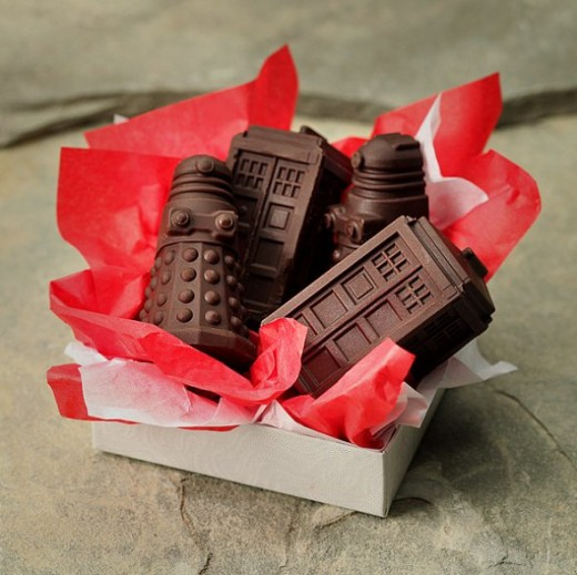 Homemade geeky chocolates make for great Valentine's gifts for guys.