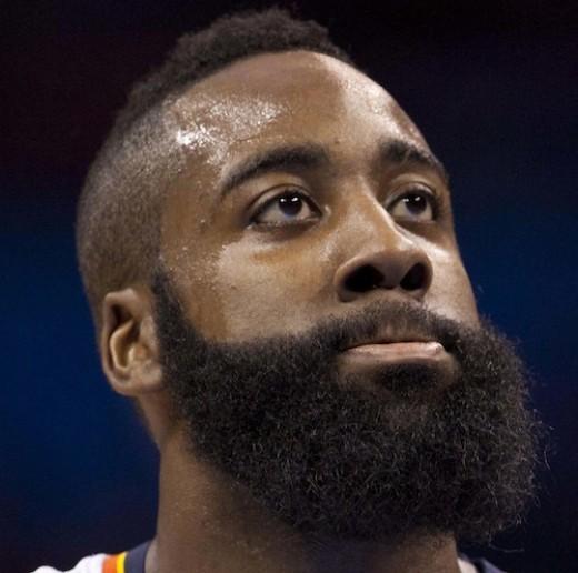 Long and black beard