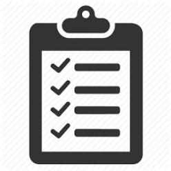 Checklist, Checklist, Checklist!
