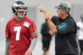 The Philadelphia Eagles and head coach Doug Pederson (R) showed Minnesota Vikings QB Sam Bradford (L) the door right before the season