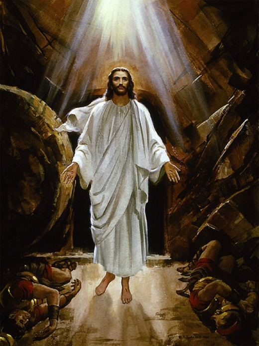 """But now is Christ risen from the dead, and become the first-fruits of them that slept. For since by man came death, by man came also the resurrection of the dead. For as in Adam all die, even so in Christ shall all be made alive."""