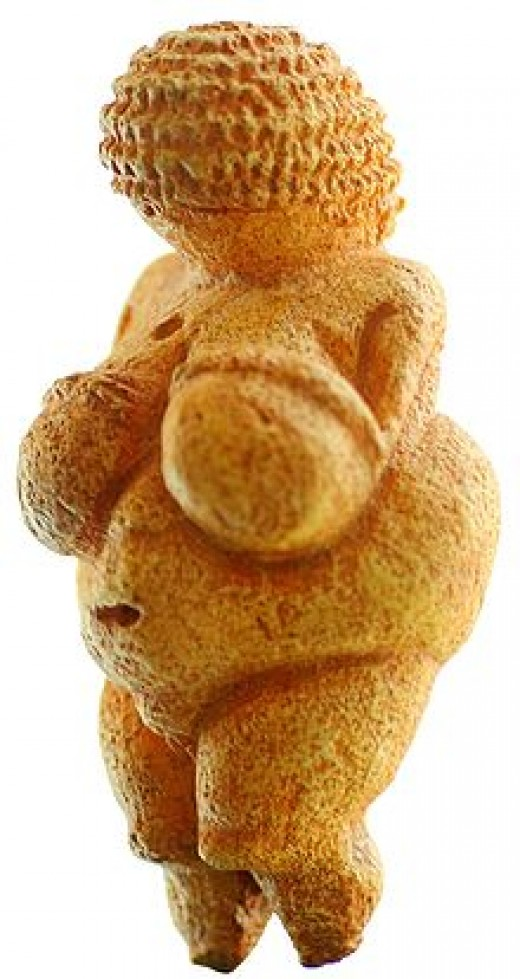 Discovered at a paleolithic site near Willendorf, a village in Lower Austria. It is carved from an oolitic limestone that is not local to the area, and tinted with red ochre.