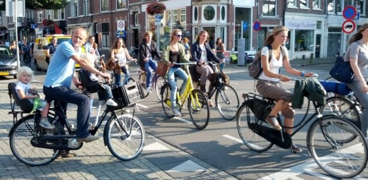 Everyone cycles in Holland!