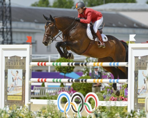 Meredith Michaels-Beerbaum and Bella Donna at the 2012 London Olympic Games.