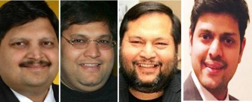 Brothers Atul, Rajesh & Ajay & nephew Varun