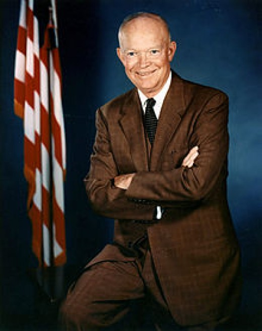 Presdident Eisenhower in 1956