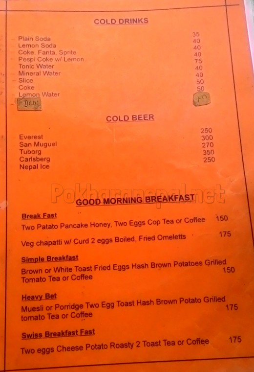 Sun Wel-Come Restaurant menu
