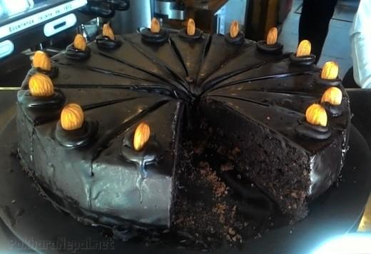 Chocolate cake at The Harbor Restaurant
