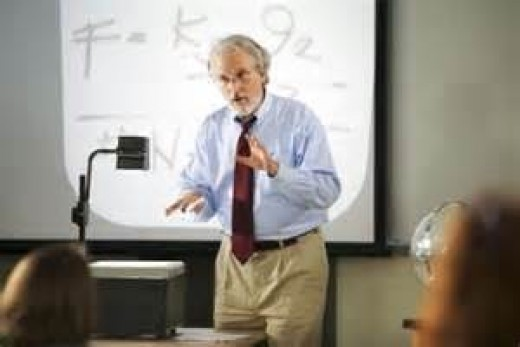 Even when teaching older students, using a projector can make learning more interesting.