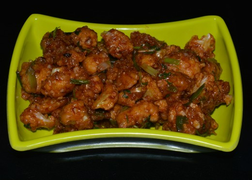 Yummy Cauliflower manchurian