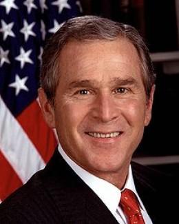 President George W. Bush  in 2001