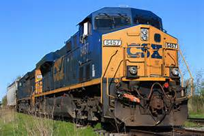 A CSX Train Making a Stop to Unload
