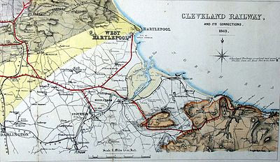 The Cleveland Railway, its links to mine workings and the Tees