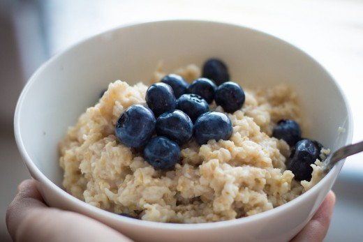 A cup of oatmeal can also serve a healthy breakfast.