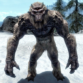 A frost troll, one of the randomly generated animals to battle.
