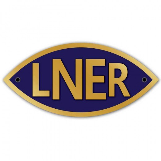 A London & North Eastern Railway badge. When the railways were nationalised, the LNER's properties in the region were incorporated into British Railways' North Eastern Region