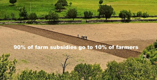 90% of farmers get 10% of farm subsidies. Only a select few benefit from subsidies