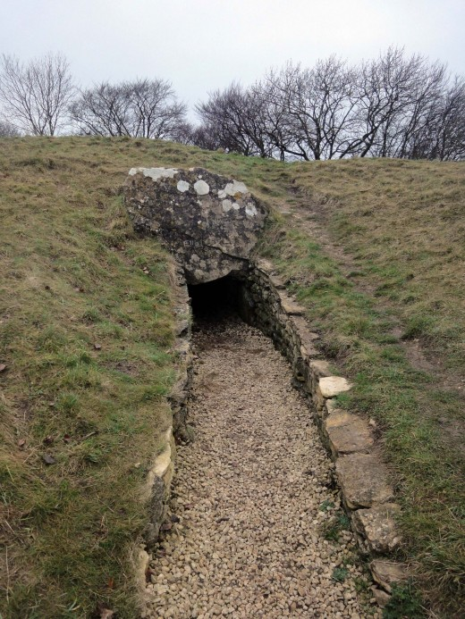 Entrance to a 4,000 year old Neolithic burial ground.